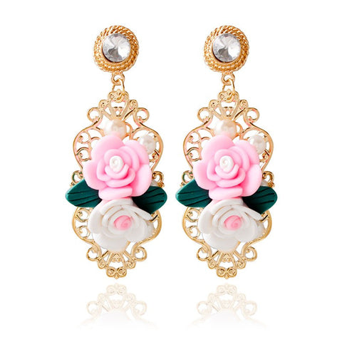 3D Floral Vintage Earrings