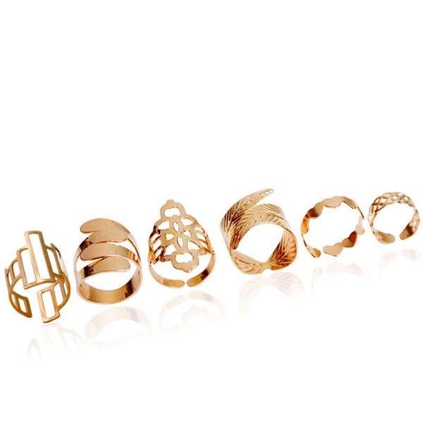Abstract Geometry Rings Set