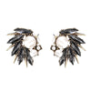 Abstract Spikes Stud Earrings