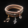Musical Note Charms 3Pc Bracelet