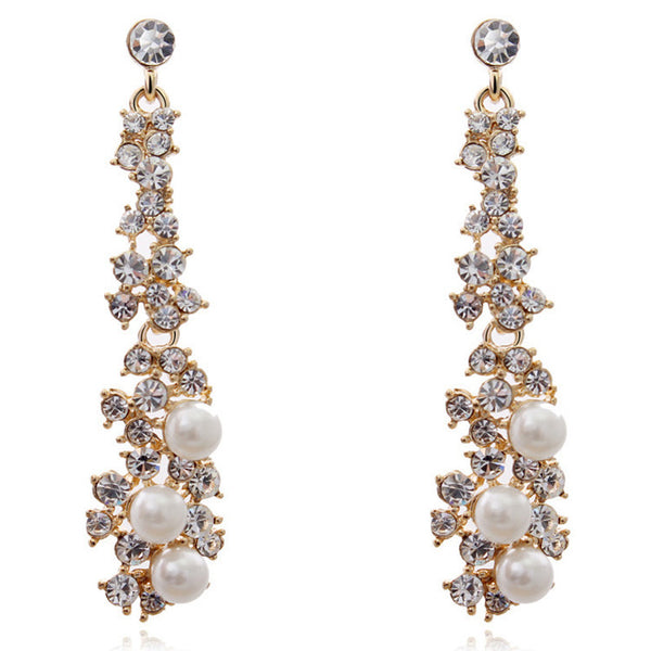 Touching Pearls Drop Earrings
