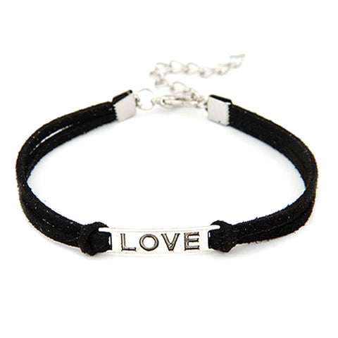 LOVE Charm Leather Wrist-Chain