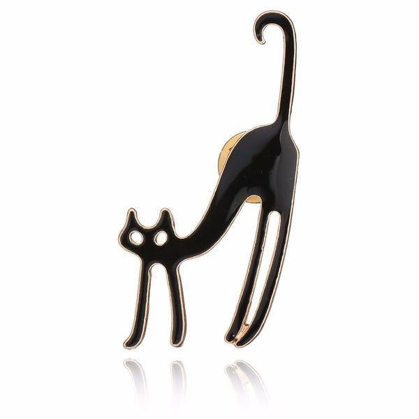 Long-leg Cat Brooch Pin