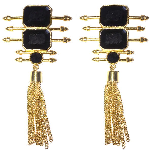 Geometric Bars Tassels Danglers