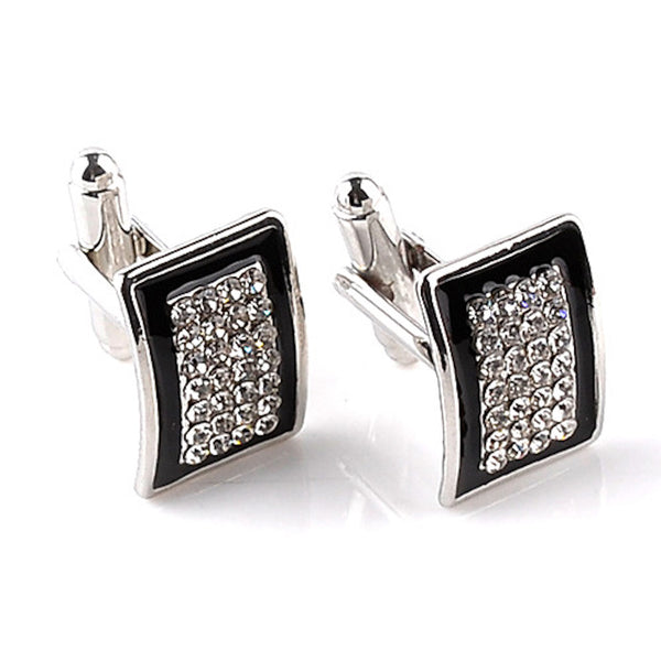 Crystal Rectangle Cufflinks