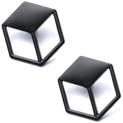 3D Cube Collar Pin (Pair)
