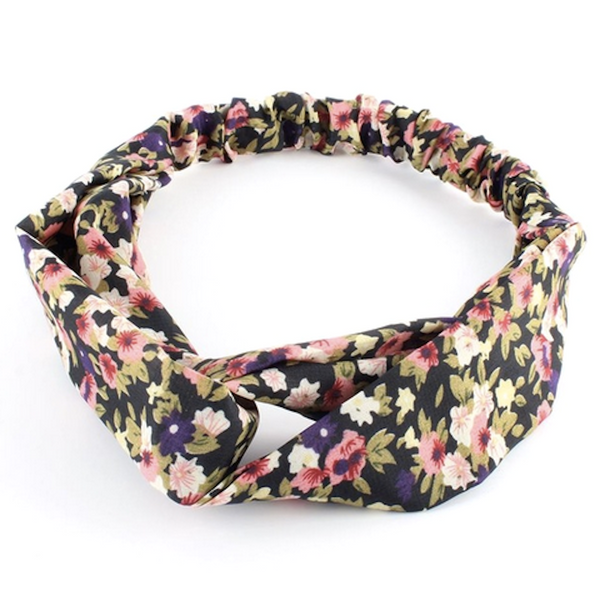 Floral Twist-Knot Head Wrap Headband