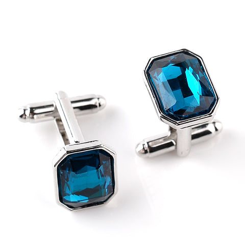 Geometric Crystal Cufflinks