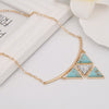 Multi Triangles Geometric Necklace