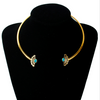 Turquoise Collar Torques Necklace
