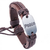 Peace Leather Bracelet