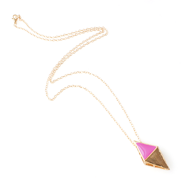 Inverted Pyramid Pendant Chain