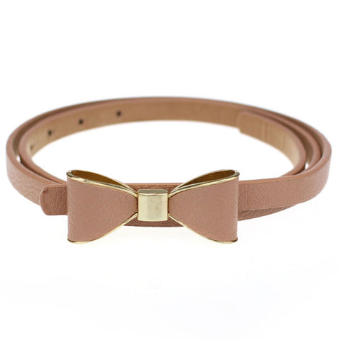 Butterfly Bow Leather Belt