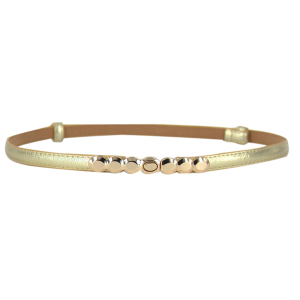 Connected Coins Metal Buckle Waist Belt