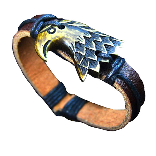 Eagle Head Leather Bracelet