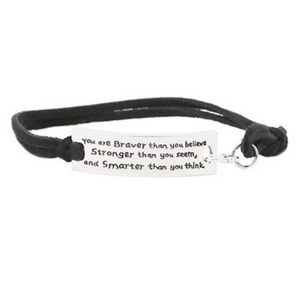 You Are Braver Than You Believe Bracelet