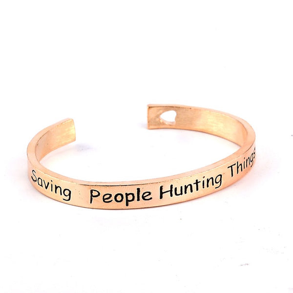 SAVING PEOPLE HUNTING THINGS Cuff Bracelet