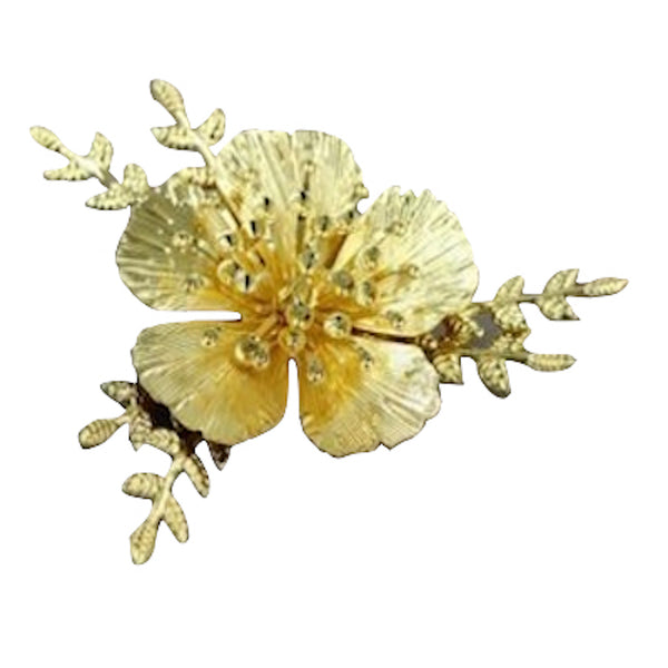 3D Flower Hairpin