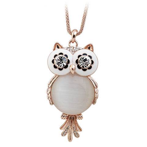 Antique Owl Pendant Necklace