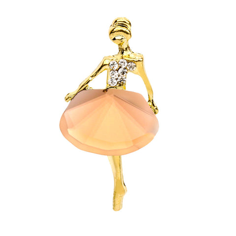 Ballet Girl Crystal Brooch