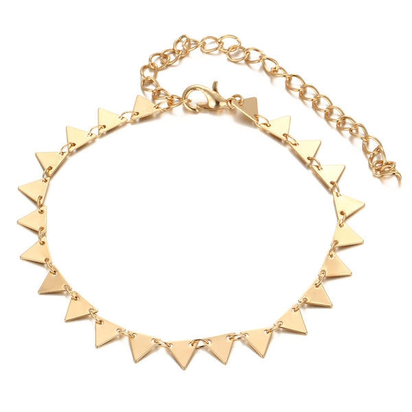 Metal Triangular Anklet