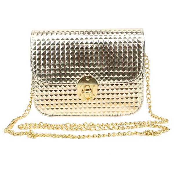 Bling Bling Metal Clasp Sling Bag
