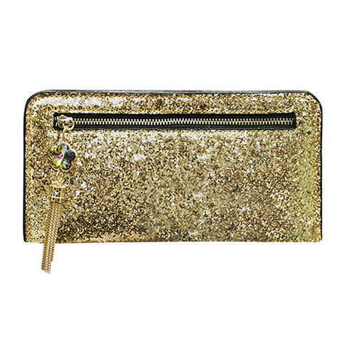 Sequined and Metal Tassel Clutch Bag