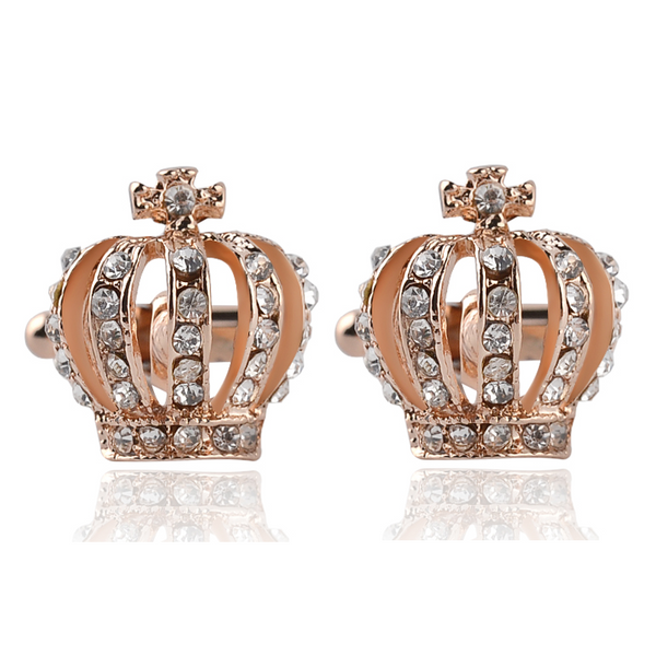 Crystal Crown Cufflinks