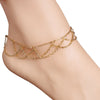 Chain Link Waves Anklet