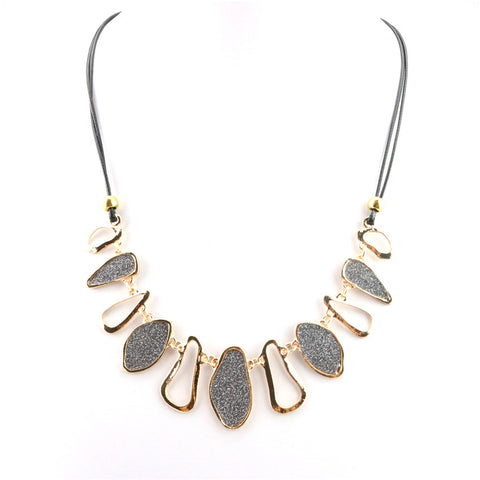Geometric Frosted Necklace