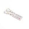 HER ONE HIS ONLY Heart Engraved Couple Keychain