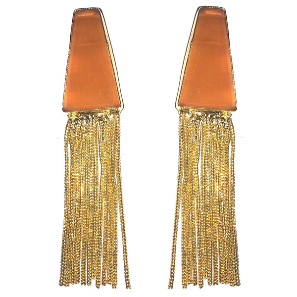 Deep Triangle Tassel Danglers
