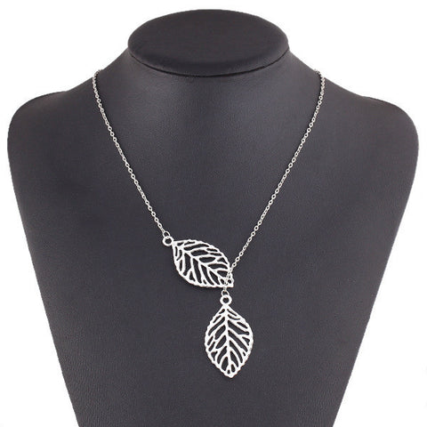 Connected Leaves Pendant Chain