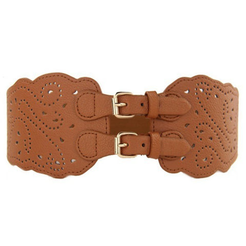 Double Buckle Corset Waist Belt