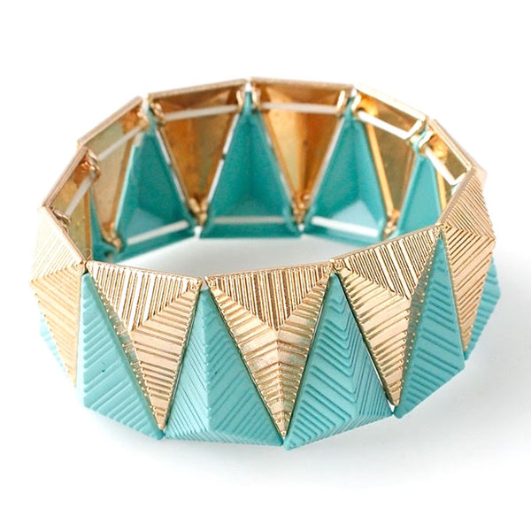 Inverted Triangles Stretch Bracelet
