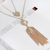 Bling Heart with Tassel Necklace