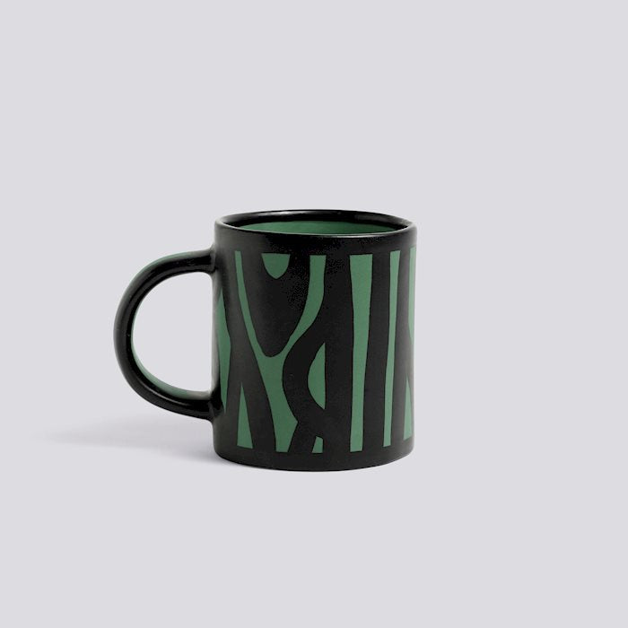 HAY WOOD MUG - Dark green