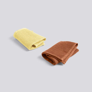 HAY WAFFLE DISH CLOTH 2 PCS -Terracotta Yellow