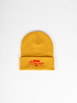 Bonnet broderie - Yellow