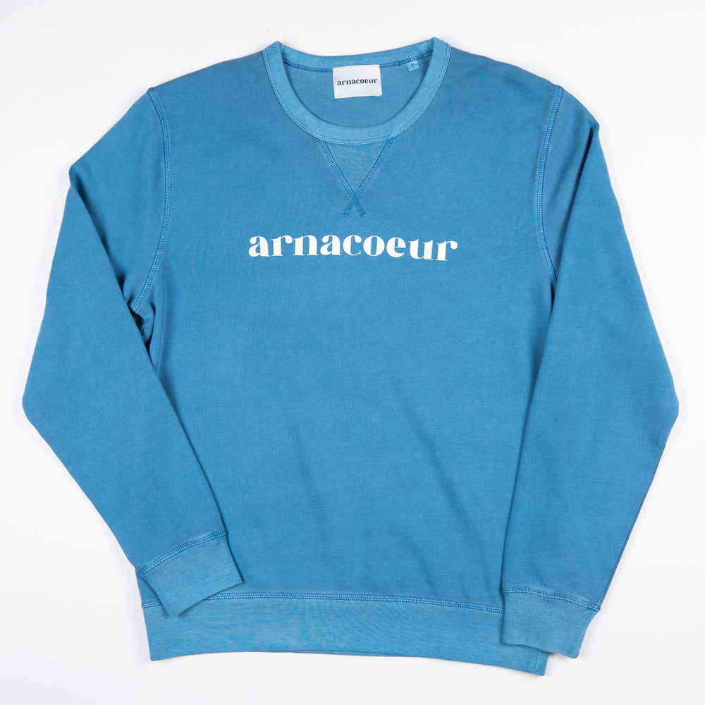 ICONIQUE SWEATSHIRT - Dyed Cadet Blue