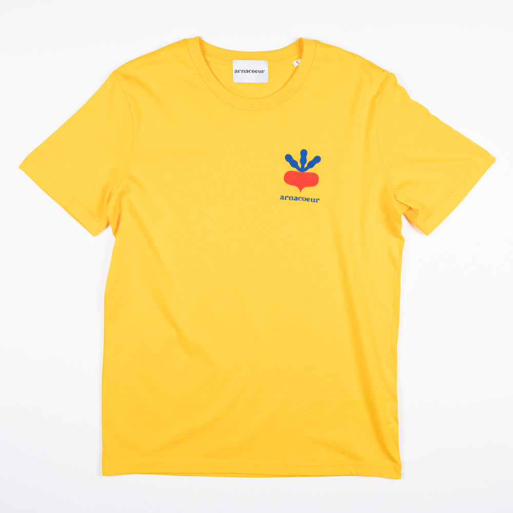 T-SHIRT BRODERIE RADIS - Spectra Yellow