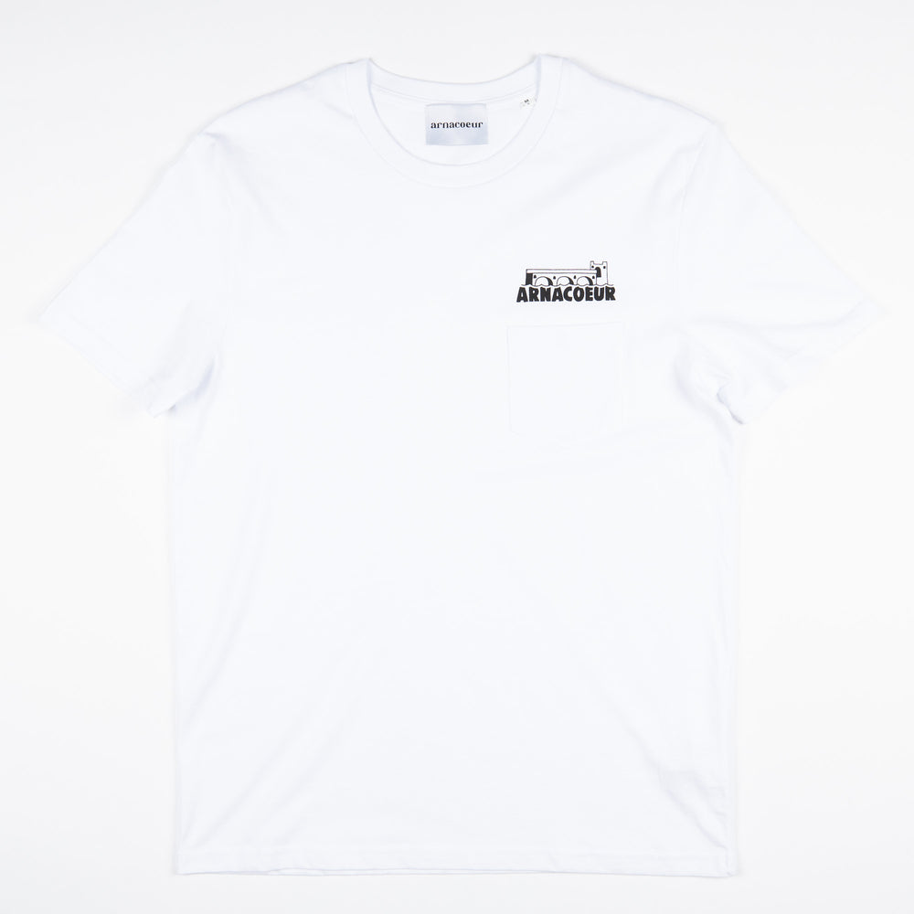 Charger l'image dans la galerie, POCKET BRIDGE T-SHIRT - White