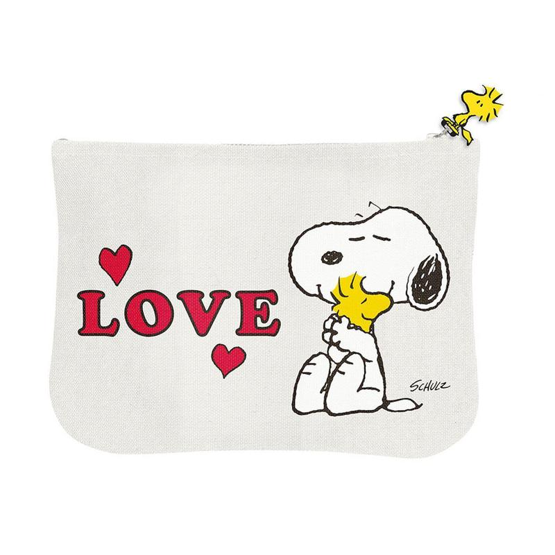 Snoopy Zipper Pouch - Love
