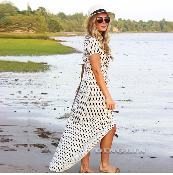 Polka Dots Beach Maxi Dress