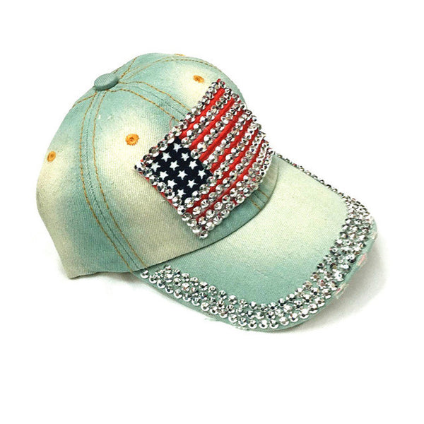 American flag cowboy Diamond hat