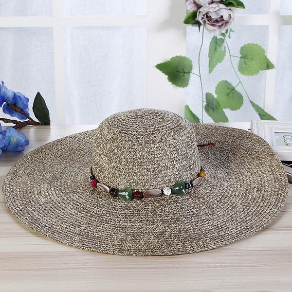 Straw Sun Hat Wide Birm