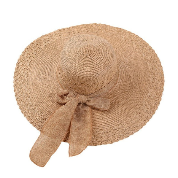 Summer Beach Bow Wide Large Hat