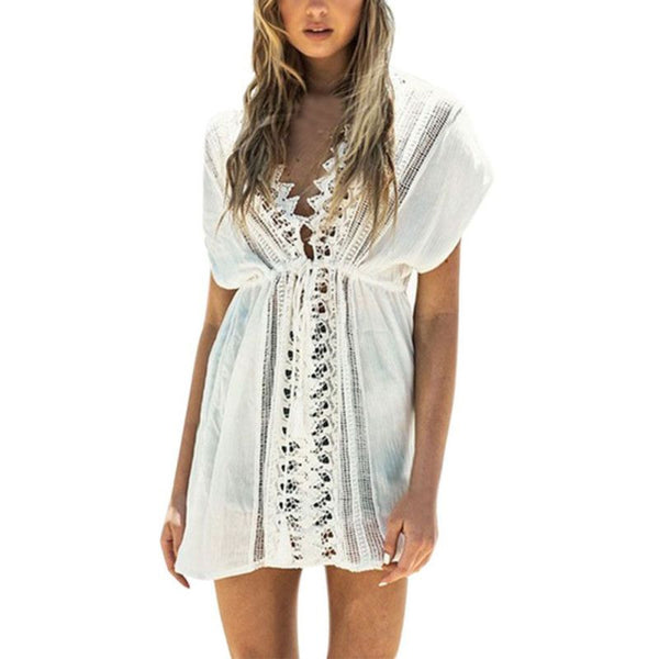 New Sexy Beach Dresses-Embroidered Boho style