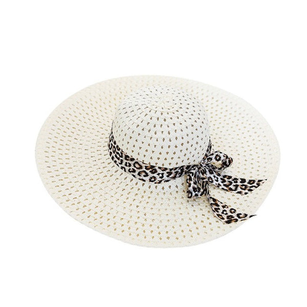 Wide Straw Hat for Summer