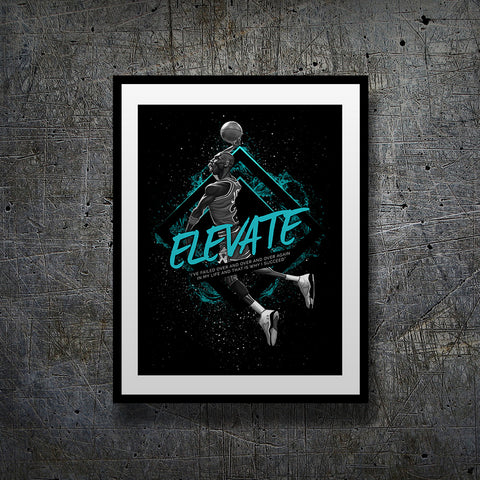 michael jordan limited edition motivational art print